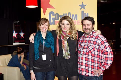 Sun Don't Shine team at Gotham in Progress: director Amy Seimetz with producer Kim Sherman and executive producer Andrew Krucoff